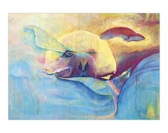 Art Print 30x40 | Blue Bear | Martina Lengers