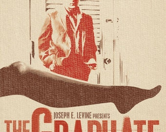 Vintage Movie Poster Print - 'The Graduate'