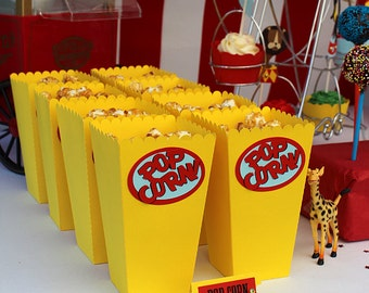 "Popcorn - ""Movies"" Theme - birthday, christening, wedding box"