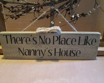 There's No Place Like Nanny's House wooden sign