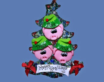 Pig Elf (3) ornament Family tree
