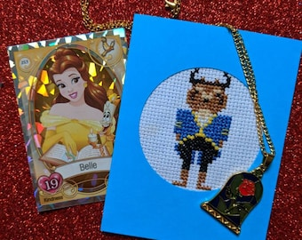 Cursed Prince Cross Stitch Card