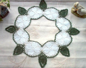 Dogwood Ring Crochet Lace Thread Art Doily New Handmade