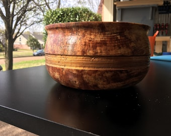 Handmade maple bowl