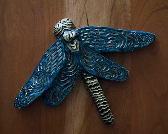 Dragonfly Blue and Copper