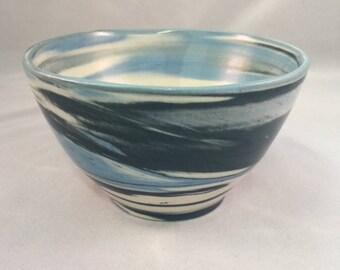WAVE Agateware Porcelain Bowl