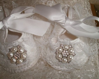 Satin Baby Shoes ,Christening and Baptism, Crib Shoes, Newborn, Fancy Shoes, First Shoes, Elegant, Satin Shoes, Embellish Shoes, Shoes