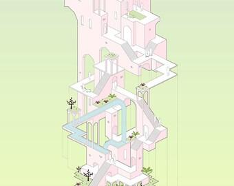Escher's Architectural Fairytale (Bottom)