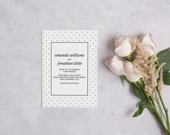 PRINTABLE Wedding Invitation Suite | 'Formal'