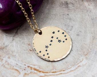 Scorpio constellation zodiac necklace. Gift for her. Gold constellation necklace. Scorpio zodiac necklace. Scorpio birthday gift. RTS
