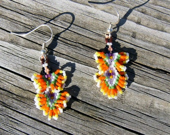 Native American style handmade beaded fancy dancer earrings