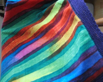 Colorful Striped Fleece Blanket