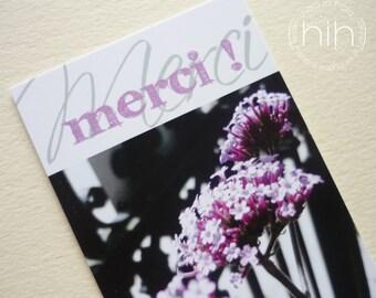 "petites cartes flora ""Merci !"""