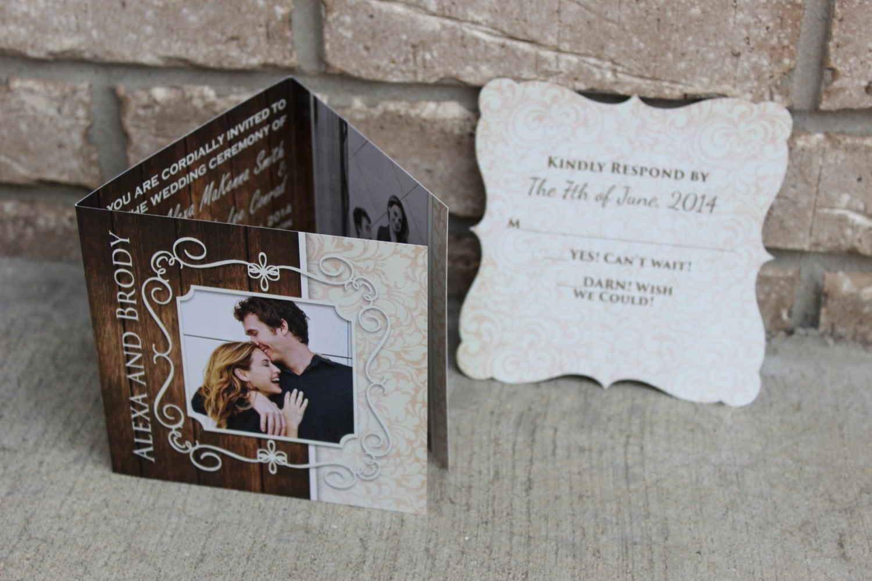 Rustic Wedding Invitation PURE