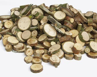 1000+ Small Various Wood Slices, Bulk Various Tree Assortment, Floristry supply, Circles Rounds Branch Rustic Bargain Crafting show activity