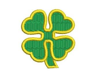 four leaf clover embroidery design