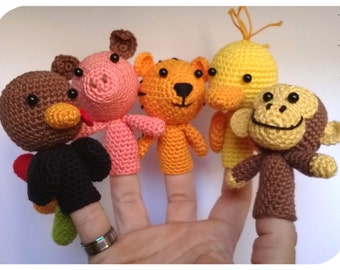 Animal Finger Puppets Amigurumi Pattern