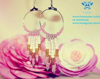 """Earrings """"Le rosier fleuri"""""""