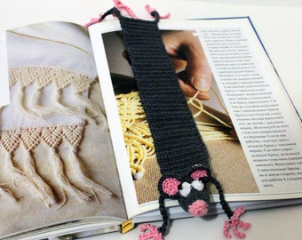 Crochet Bookmark Crochet Mouse Handmade amigurumi Rat  Bookmark