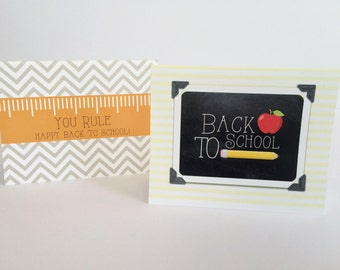 Back To School Teacher Note Cards Student Welcome Back Folded Notes Digital
