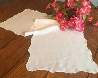 White Table Runner Dresser Scarf Vintage Table Linens