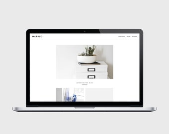 RESPONSIVE BLOGGER TEMPLATE - Marble - Grid Style, Popular Posts Slider, Simple, Chic, Minimal, Sleek