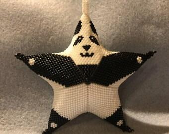 Panda Star Ornament