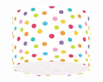 Polka dot lamp shade etsy colourful polka dot lamp shade aloadofball