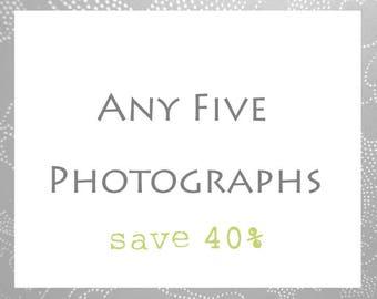 Photography Print Set of Five // Custom Set // Print Set of 5 // Your Choice