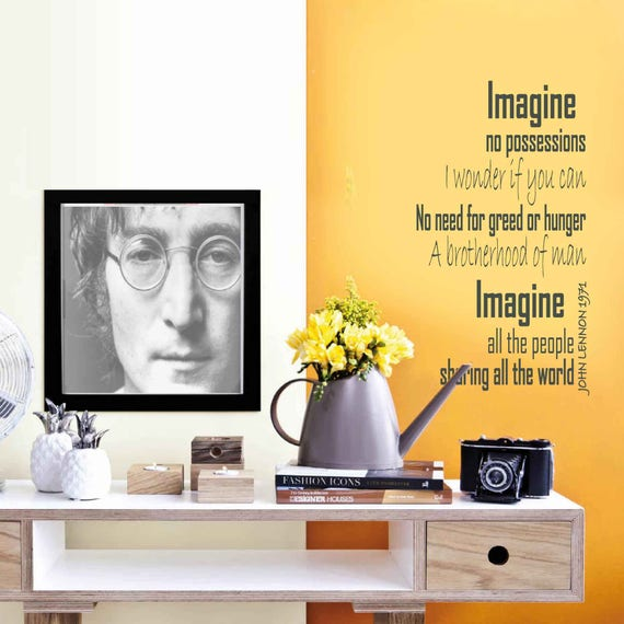 IMAGINE JOHN LENNON Wall sticker song lyrics wall art