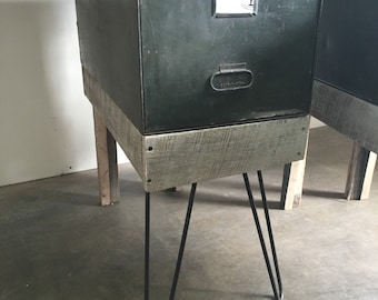 Side table storage cabinet