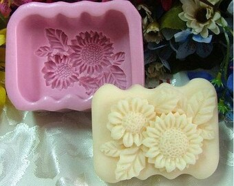 Chrysanthemum Oblong Silicone Mold Silicone Mould Candy Mold Chocolate Mold Soap Mold Polymer Clay Mold Resin Mold R0167
