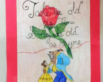 Tale as Old as Time, Song as old as Rhyme (illustration)