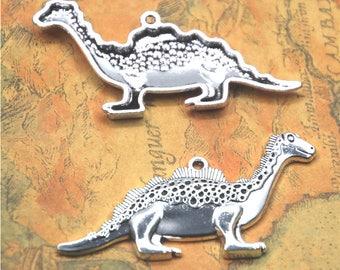 3pcs/lot Nessie charm Antique Tibetan silver Loch Ness monster Charms Pendant 31x62mm ASD2658