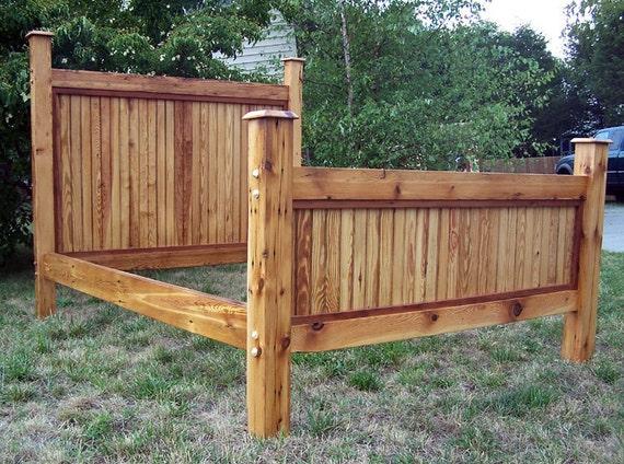 heart pine bed frame made from reclaimed antique barnwood. Black Bedroom Furniture Sets. Home Design Ideas