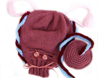 Knitted Uterus w/  Caesarian Opening, Ovaries and Blood Vessels, Placenta, Ante-natal Teaching Aid, Childbirth Education, Midwife Gift