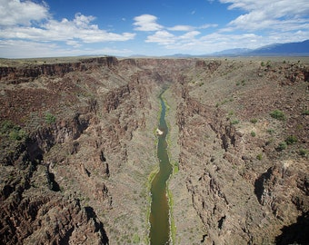 Rio Grande New Mexico Print/Landscape/ Sky/ River/ Canyon/ State/ Travel Photography/Framed Print/Home Decor/ Wall Art/Eleventh Planet Art