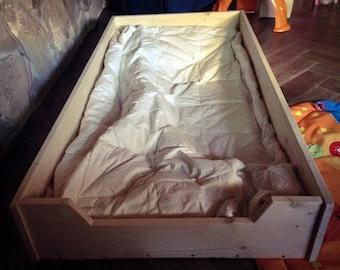 Montessori-Montessori Bed bed Spruce 120x60px