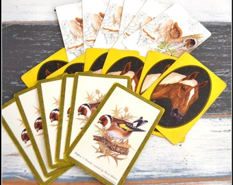 Vintage Playing Card Grouping - Critter Cards - Lot of Vintage Cards - Playing Cards - Card Swap   (#C3)