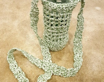 Cotton Water Bottle Crocheted Tote