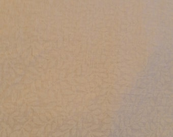 """Tone on Tone beige and white floral cotton print fabric Quilting  Fabric 2 yds +20"""" x 88"""" wide"""