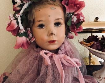 Käthe Kruse sweet Child mannequin head ,rare 1940