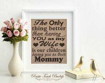 Gift for wife, Wife gift, Wife birthday gift, Christmas gift for wife, Gift from husband, Wife sign, Gift for wifey, Mom sign, Custom gift