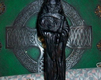 "Grim Reaper Black Beeswax Candle 8"" Tall"