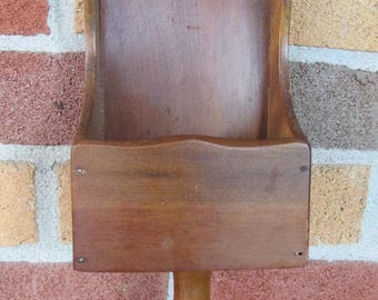 Vintage Wooden Scoop Shelf