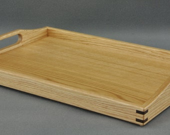 "Serving Tray/ Ottoman Tray- Red Oak 14"" x 20"" by Tyler Morris Woodworking"