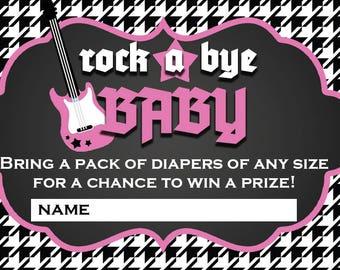 Rock A Bye Baby Digital Diaper Raffle Cards