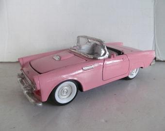 Pink 55 Thunderbird Convertible Pink Convertible Car Collectible Toy Cars T Bird Convertible 1955 t bird car