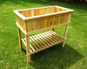 Woodworking Plans - Cedar Raised Garden Planter. Illustrated Plans with Photos!