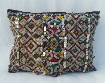 Vintage Decorative berber Cushion , moroccan pillow.